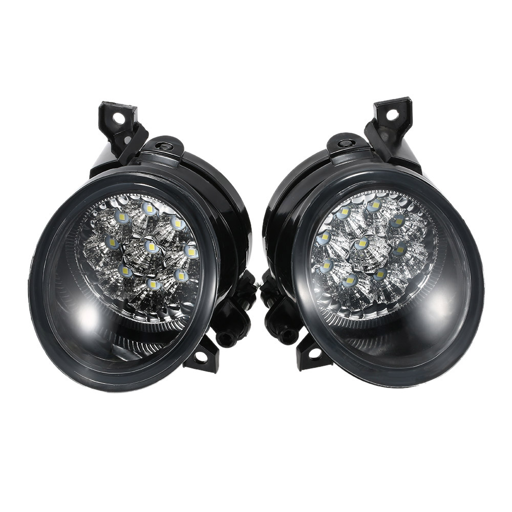 Pair of 9 LED Fog Light Bright White Lamp Left & Right for VW MK5 JETTA 2005-2009 цена