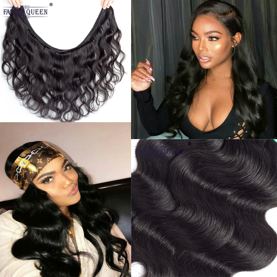 Fashion Queen Hair Malaysia Body Wave 8-28 inch Human Hair Bundles Double Weft Non Remy Hair Weave Bundles Natural Color