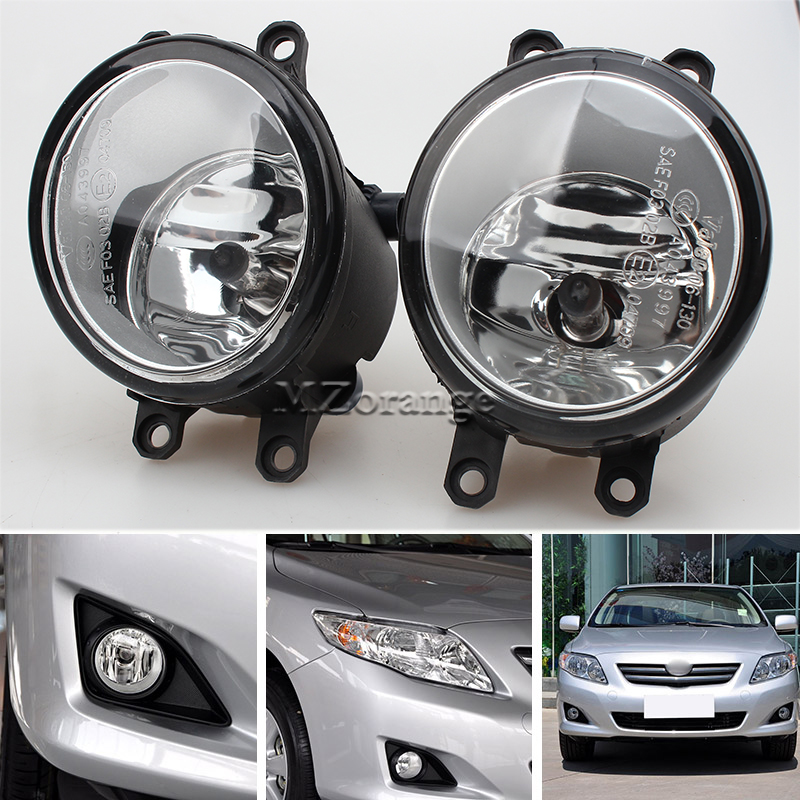 2 PCS / Set Fog Lights Lamps For Toyota Corolla Camry Yaris RAV4 Lexus GS350 GS450h LX570 HS250h IS F LX570 RX350 RX450h ABS+LED