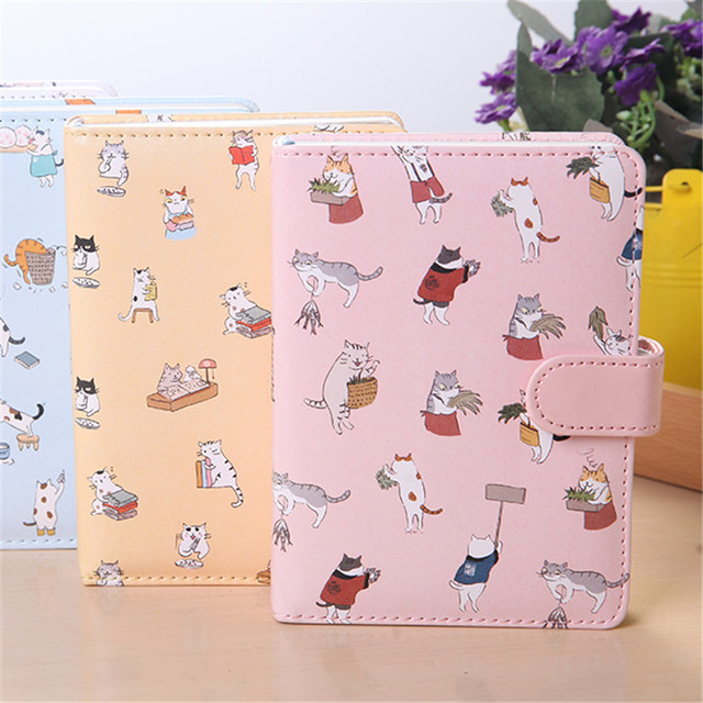 Cute Cartoon Design Small Size Magnetic Snap Colored Pages Notebook ...