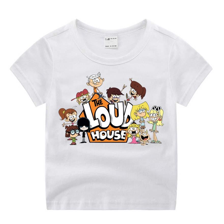Baby Boy Clothes Funny Movie The Loud House Print T-shirt Kids Summer O-Neck Tops Boys & Girls Tshirt