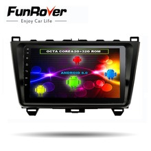 Funrover 8 cores Android 8.0 2 din Car Multimedia radio player dvd For MAZDA 6 Mazda6 Ultra 2008- 2015 headunit gps navi stereo