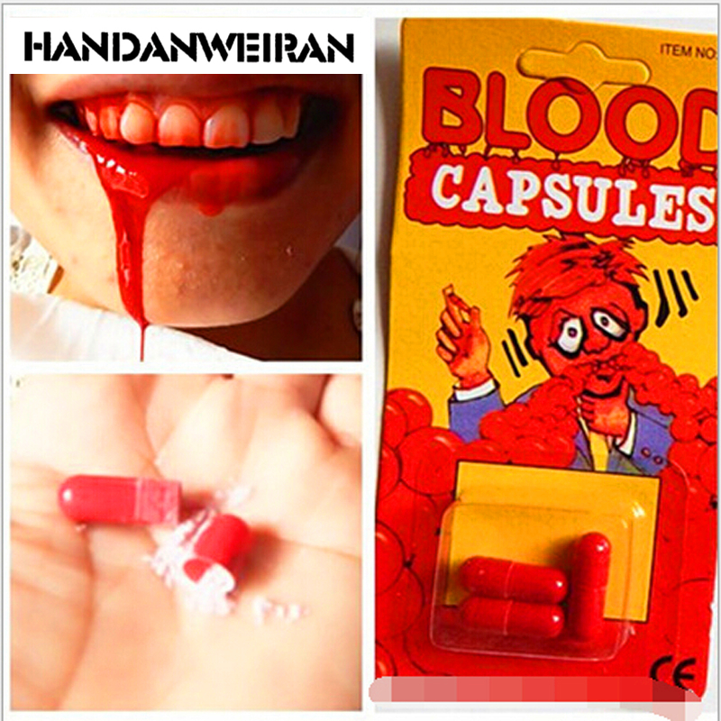 1PIECE Strange uudet lelut Huhtikuu tyhmät päivä ne temppuelementit lelut Horror pelottava prop Blood Pill
