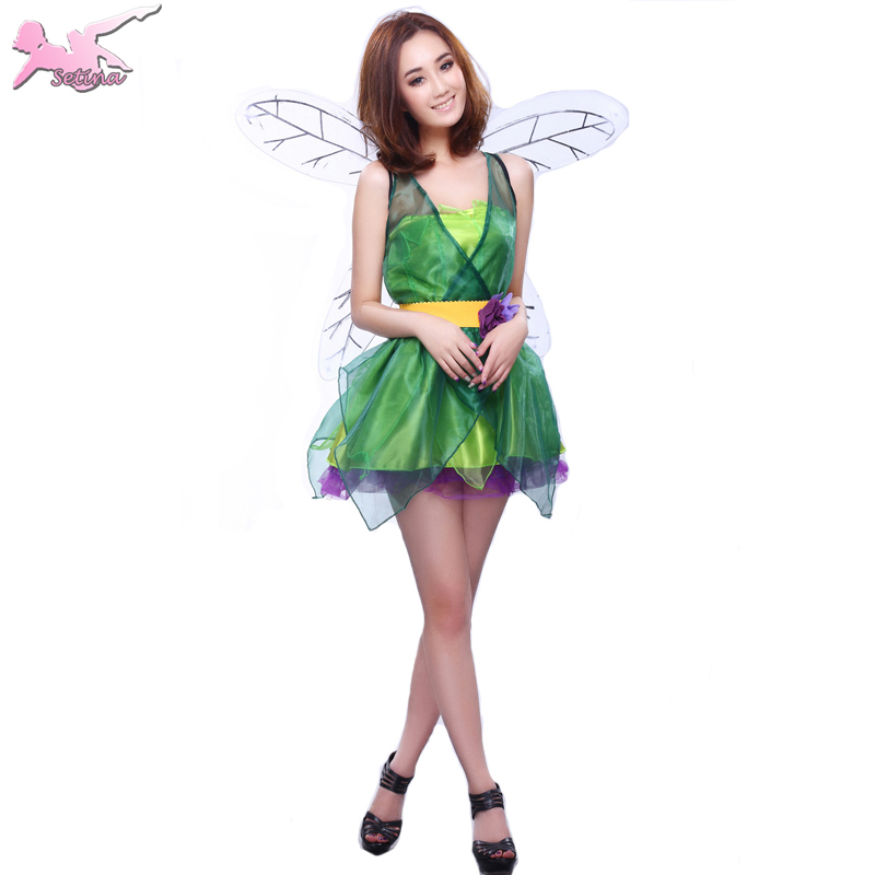 carnival costume beautiful green fairy strapless role playing dress halloween costumes for women cute performance cosplay xdw016 on aliexpresscom alibaba - Green Fairy Halloween Costume