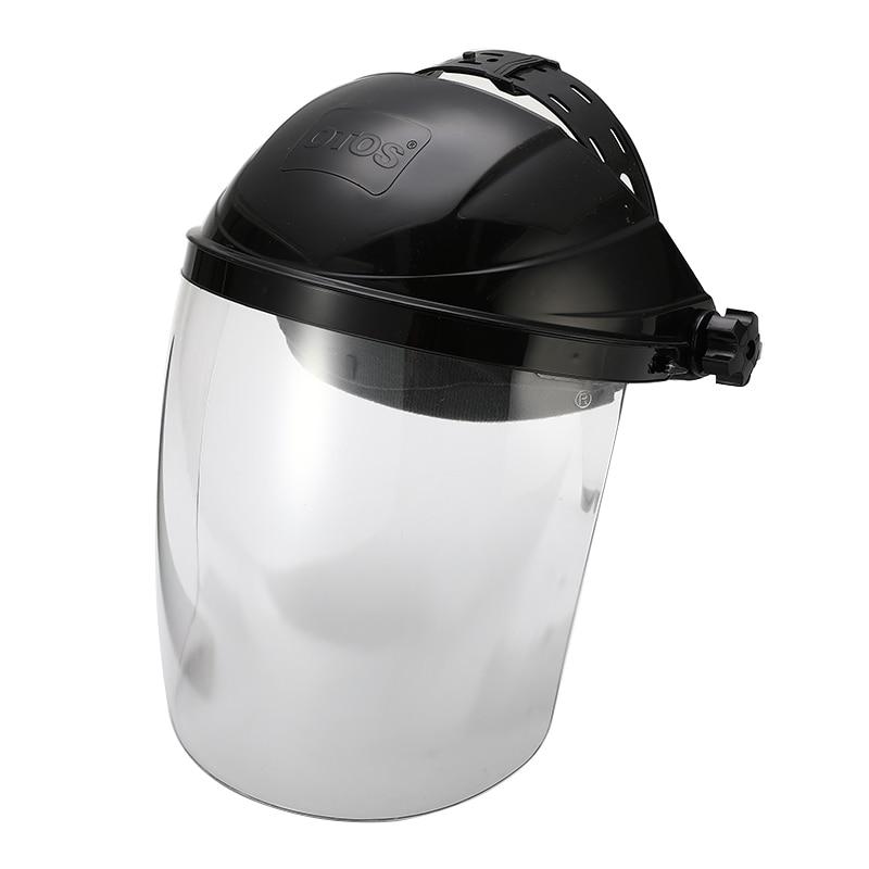 Image 2 - Anti shock Welding Helmet Face Shield Solder Mask Transparent Lens Face Eye Protect Shield Anti UV Anti shock Safety MaskMasks   -