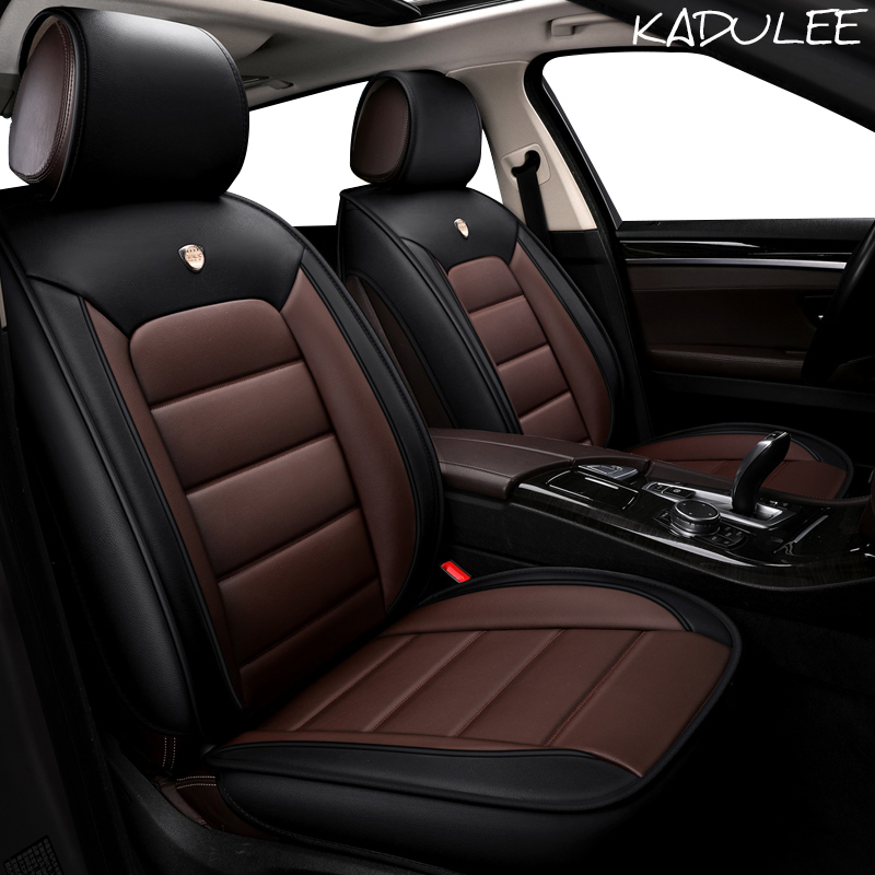 KADULEE pu leather Car Seat Cover for renault clio logan Megane 2 3 Duster Kangoo Kolo automobiles seat cover auto accessories-in Automobiles Seat Covers from Automobiles & Motorcycles    2