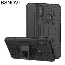 For Xiaomi Mi 8 Case Hard Bumper Phone Holder Kickstand Anti-knock Cover Funda BSNOVT