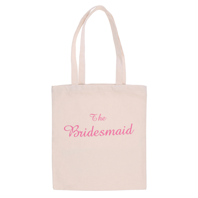 New Hot Sale Wedding Party Bridal Tote Bag Bridesmaid/Bride to Be/The Bride Hen Party Gift Bag Wedding Party Supplies Home Decor