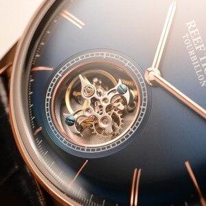 Image 3 - Мужские часы с автоматическим ремешком из натуральной кожи, с турбийоном