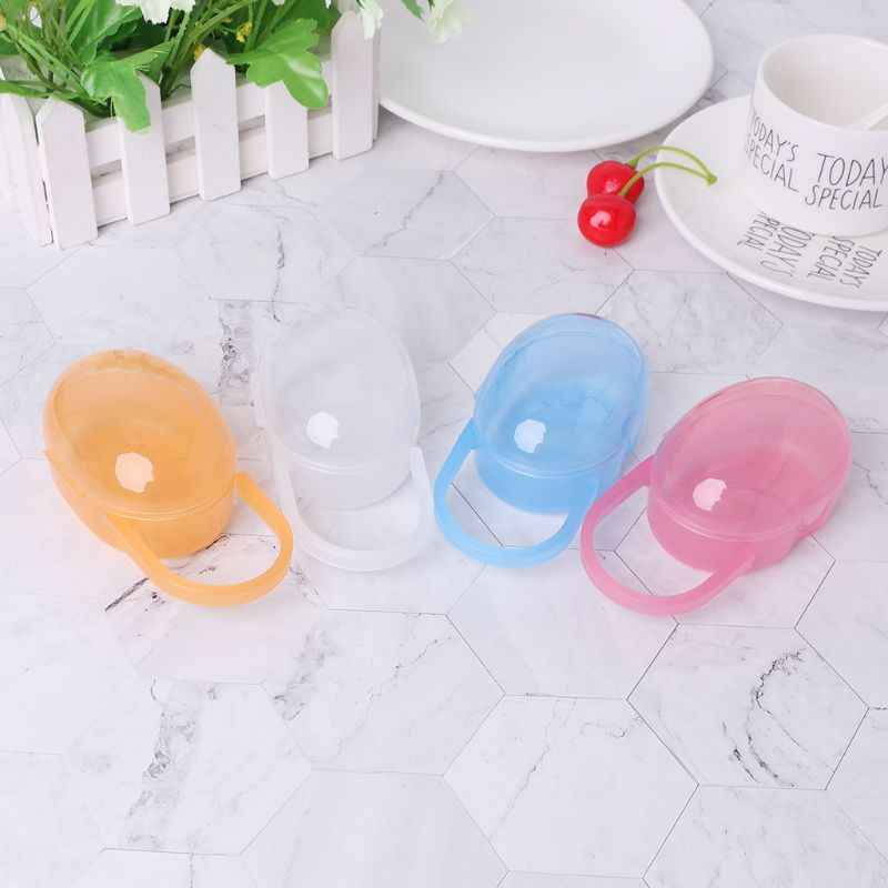 Baby Nipple Container Box Portable Carry Cases Teether Storage Organizer Plastic Pacifier Soother Case Mini Hygiene Protector