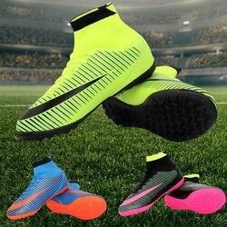Botas de Futebol Futsal interior Dos Homens Baratos Chuteiras de futebol De Futebol Originais Com Sports For Women & Men botas futbol calcio scarpe