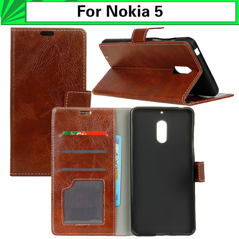 EiiMoo Walle <font><b>Phone</b></font> <font><b>Case</b></font> For <font><b>Nokia</b></font> 5 <font><b>Case</b></font> Hard Leather Flip Cover For <font><b>Nokia</b></font> 5 Nokia5 Capa Coque 5.2 <font><b>Bag</b></font> Silicone tpu inner 2017