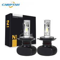 CARPTAH 2pcs N1 Headlight Bulbs LED Car Light 9005/HB3 9006/HB4 H4/9003/HB2 Hi/Lo H7 Headlamp H8 H9 H11 Auto Fog Lamp 50w 8000Lm