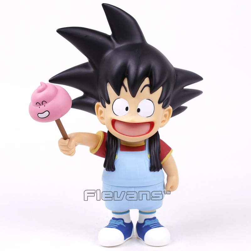 Son Goku Cosplay Arale / Arale Cosplay Son Goku PVC Action Figure Funny Toy Gift 24cm/18cm golden son