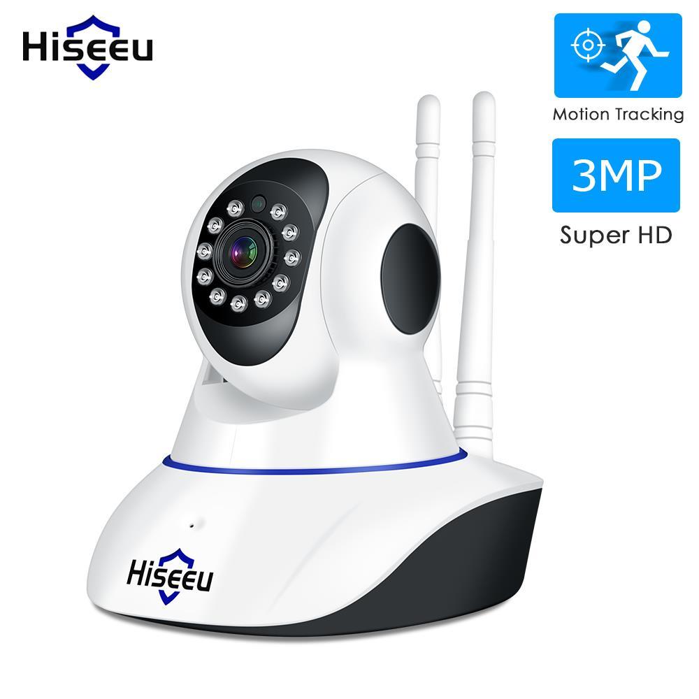 Hiseeu Ultra HD 3MP 1080P Wireless IP Camera WiFi 1536P Home Security Surveillance Camera CCTV Baby Kamera Smart Auto Tracking
