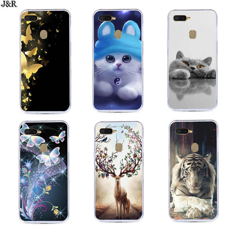 For OPPO AX7 Case Silicone TPU Soft Cover Phone Bags For OPPO AX7 CPH1901 CPH 1901 OPPOAX7 OPPO AX 7 A7 Cases Cartoon