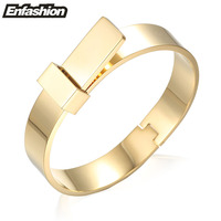 Enfashion Wide Knot Bracelet Manchette Noeud Armband Rose Gold Plated Bangles Bracelets For Women Cuff Bracelets