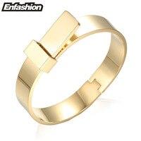 Enfashion Large Noeud Bracelet manchette Noeud Brassard Rose couleur Or Bracelets Bracelets Pour Les Femmes Manchette Bracelets pulseiras