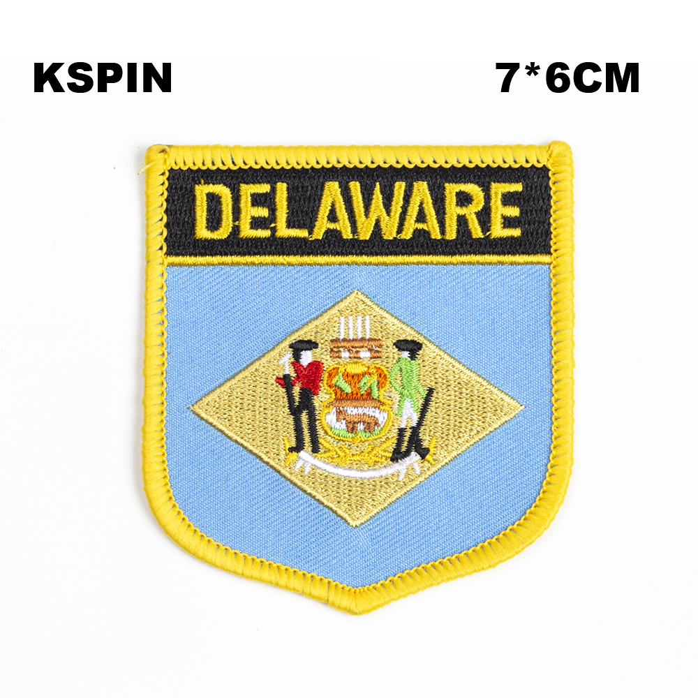 Have An Inquiring Mind U.s.a Delaware State Iron On Badge Embroidered Clothes Badge For Clothing Stickers Garment 1pcs 6*7cm Upi-0224-s Apparel Sewing & Fabric
