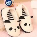 Millffy полосатый зима панда тапочки полу дома тапочки обувь женщины дешевый дом тапочки