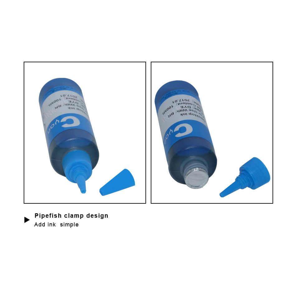 100 Ml Botol Isi Ulang Tinta Dye + 73N T0731 Tinta untuk Epson CX3900 CX5900 CX4900 TX100 TX110 TX200 TX210 TX400 TX410 Printer