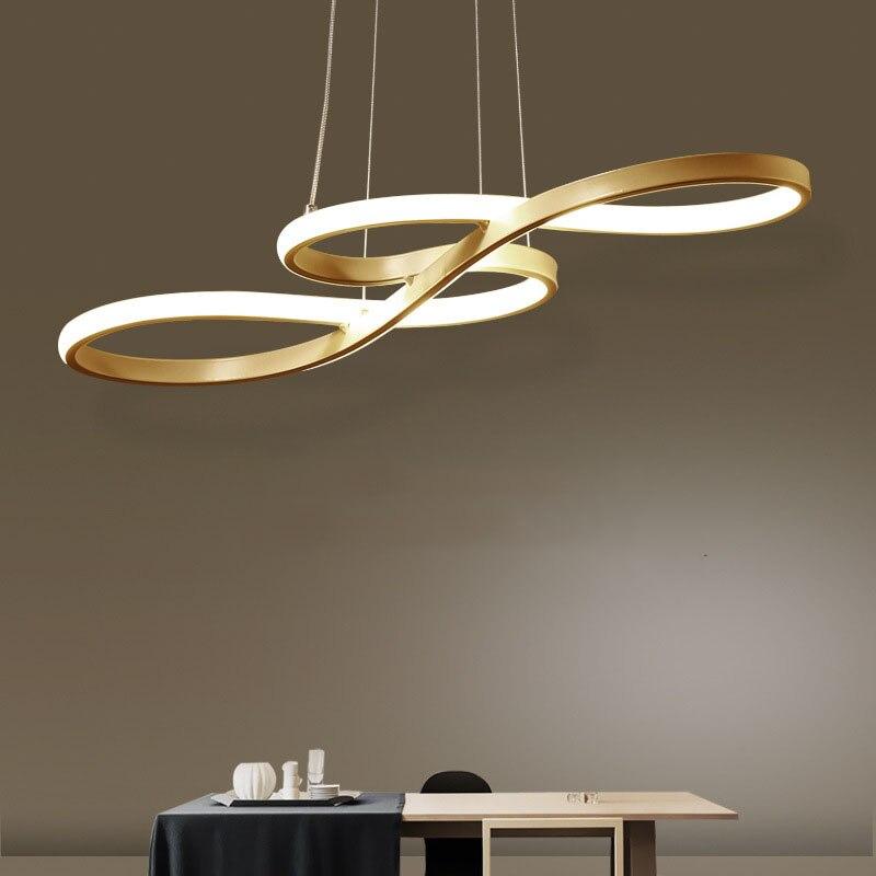 Lampe de pendentif LED moderne noir/blanc nordique suspension Note créative suspension pour barre Table cuisine île salle à manger