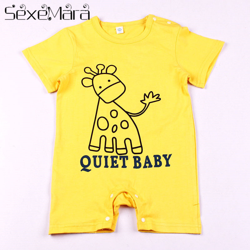 100% Cotton Short Sleeve Baby Rompers Cute Cartoon Pattern Fashion Baby Boy Girl Clothes Toddler Boy Jumpsuits Bebe Roupas HB063