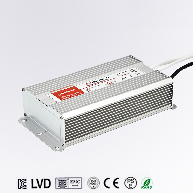 200W 12V 16.5A LED constant voltage waterproof switching power supply IP67 LPV-200-12 120w 48v 2 5a led constant voltage waterproof switching power supply ip67 for led drive lpv 120 48