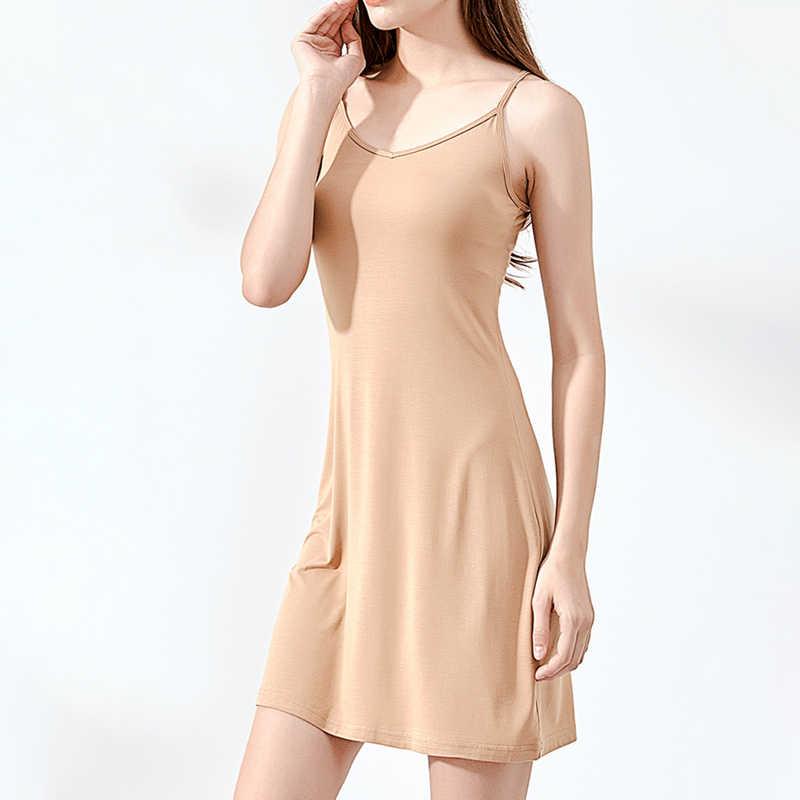 b48e63ff9ee07e Summer Women Dress Casual Solid Spaghetti Strap Short Smooth Sleeveless  Dress Womens Under Ladies Clothing Dresses