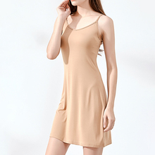 Summer Women Dress Casual Solid Spaghetti Strap Short Smooth