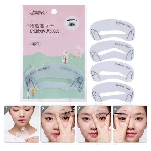 Word Eyebrow Stencils Eyebrows Mold Makeup Tools Threading Artifact Thrush Aid Card Thrush Card Threading Hot Sale 2