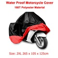 Size 2XL 265 x 105 x 125cm Motorcycle Covering Waterproof Scooter Cover UV resistant Heavy Racing Bike Indoor Outdoor Cover D10