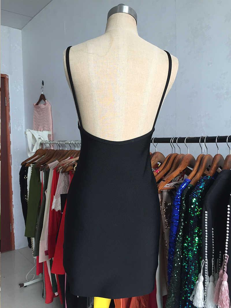 Черные Мини платья с открытой спиной Бандажное платье Ночная Клубная одежда для вечеринок с квадратным вырезом облегающее платье с открытой спиной