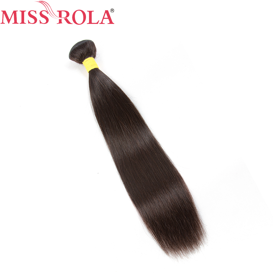 Miss Rola Hair Malaysian Straight Hair Weaves 1 Bundle Non-Remy Human Hair Extensions Natural Color