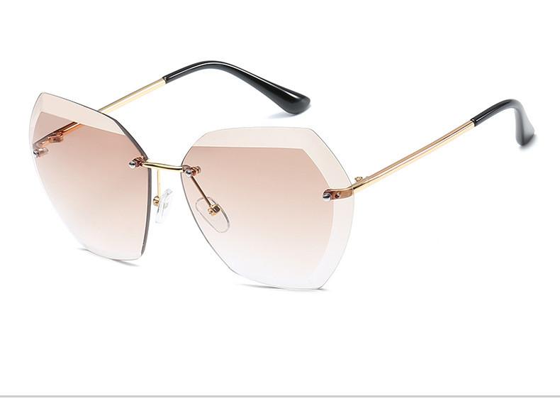 HTB18fgDftnJ8KJjSszdq6yxuFXaa - Luxury Vintage Rimless Sunglasses Women Brand Designer Oversized Retro Female Sunglass Sun Glasses For Women Lady Sunglass 2018