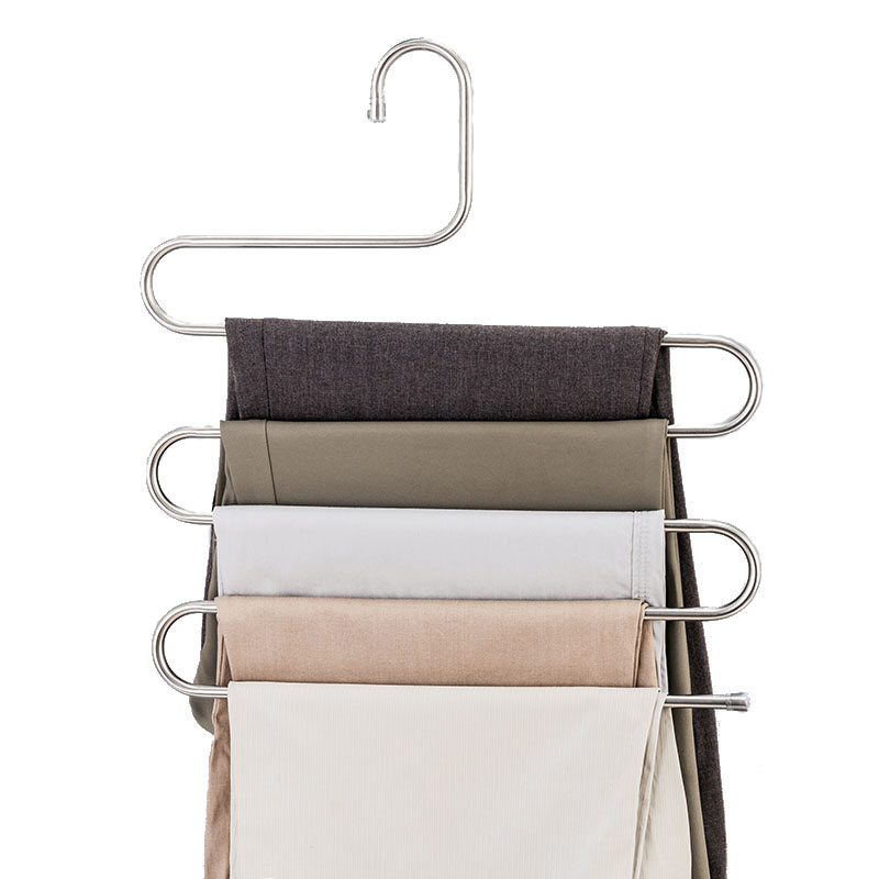 Multi-function 5 Layers Pants Hanger Rack Trousers Clothing Home Storage Organizer Accessories Supplies Gear StuffMulti-function 5 Layers Pants Hanger Rack Trousers Clothing Home Storage Organizer Accessories Supplies Gear Stuff