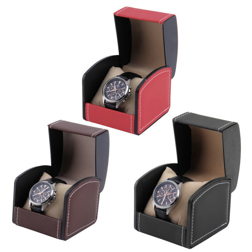 Luxury Watch Hard Box Gift Boxes Leather With Pillow Jewelry Watch Packaging For Bangle WristWatch Box Relogio Masculino