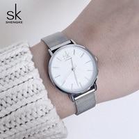 Shengke Quartz Watch Women Brand Luxury Rose Gold Wristwatch Stainless Steel Relogio Masculino 2018 SK Ladies