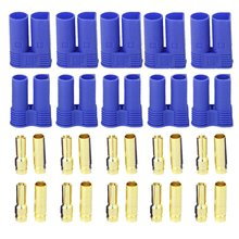 5 Pairs of EC5 Banana Plug Bullet Connector Female Male for RC ESC LIPO font b