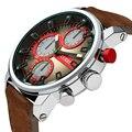 Hombres del Reloj de cuarzo CURREN Marca Relojes Hombres Montando Deporte Reloj de Pulsera de Cuero Reloj Con Fecha Reloj Hombre Reloj Relogios masculinos