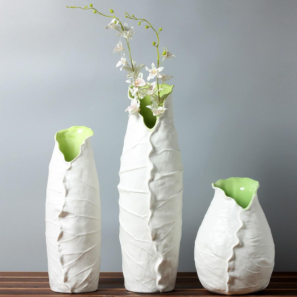 piecesvasessethandmadebriefmodernvase chinachineseceramicporcelainhomedecorationtabledecorative - online shop pieces vases set hand made brief modern vase china