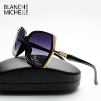 2016 New Fashion High Quality Polarized Sunglasses Women Brand Designer Gradient Lens Driving Sun Glasses UV400