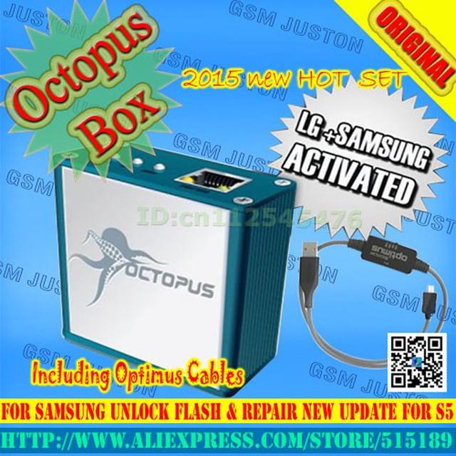 Octopus box activada completo original para lg y para samsung 19 cables incluyendo optimus cable set para liberar y flashear y reparación de herramientas