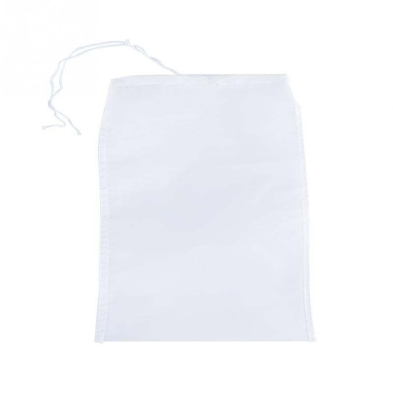 2pcs White Food Grade Nylon 20x30cm 80 Mesh Reusable Strain Tea Pulp Juice Food Nut Milk Filter Bag Home Cooking Useful Tools