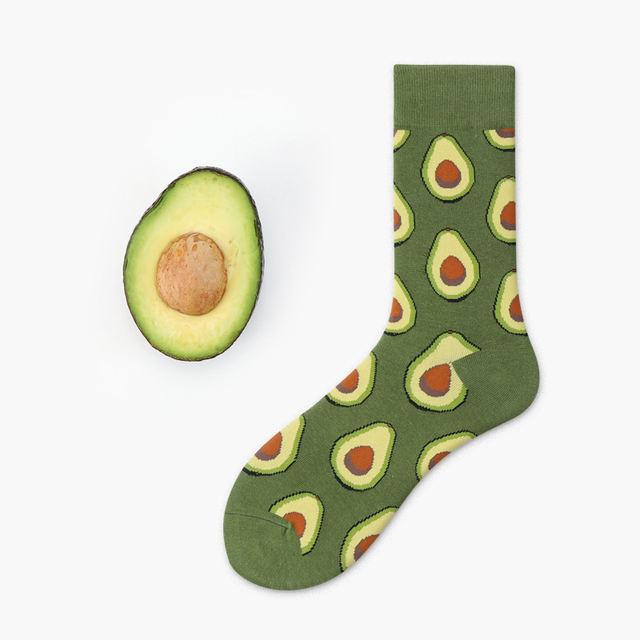 Avocado Sushi Omelette Burger Apple Plant Fruit Food Socks Short Funny Cotton Socks Women Winter Men Unisex Happy Socks Female
