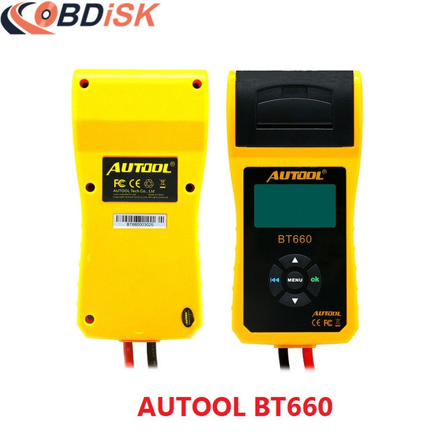New arrival AUTOOL BT660 Battery System Tester Built-in Thermal Printer Multi-Language Free Shipping