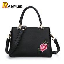 Luxus Marke Frauen Tasche Stickerei Handtasche Blume Floral tragetaschen Für Frauen Handtaschen Pu Leder Weibliche Messenger Bags Bolsa