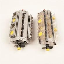 1Set V8 Engine Cylinder Technic Car Blocks Power engine cylinder model Building Bricks Toy compatible with 2850B 32333 2852