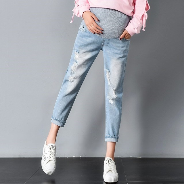 199f3df4c97a2 Spring Summer Maternity Jeans For Pregnant Woman Pregnancy Denim Pants  Fashion Maternity Trousers Clothing Plus Size M-3XL