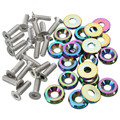 Best Price High Quality 20PCS/Lot Billet Aluminum Bumper Washer Engine Bay Dress Up Kit Neo Chrome Screws Nuts